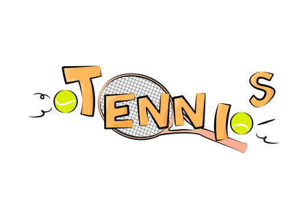 tennis skirt: illustration on the theme of sport and a healthy lifestyle - tennis.
