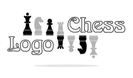 adversary: logo in style of flat design on the theme of chess. Illustration