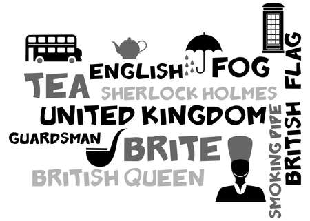 guardsman: illustration in style of flat design n the theme of Great Britain.