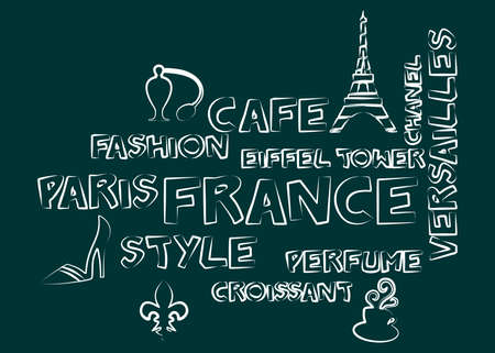 frenchwoman: illustration in style of flat design on the theme of france.