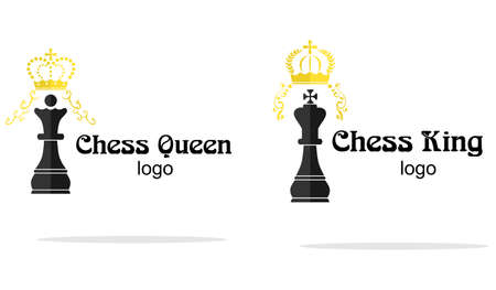 adversary: flat design on the theme of chess.