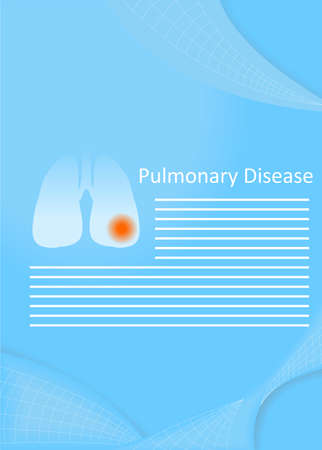 pulmonary: illustration on the theme of medicine - the pulmonary disease.