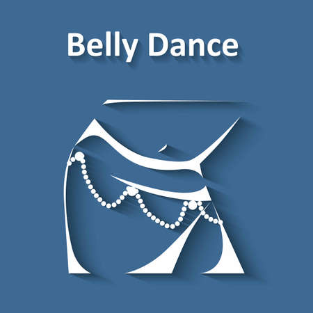 belly dance: illustration in style of flat design dedicated to the belly dance.