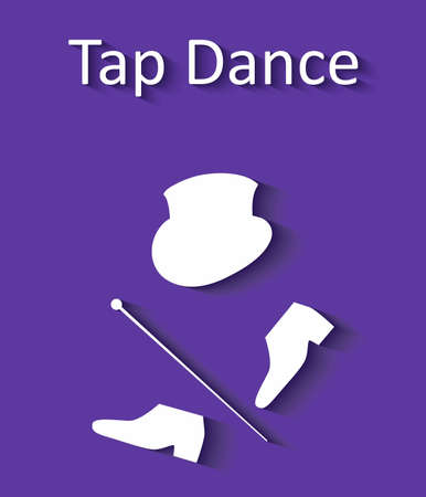 tap dance: illustration in style of flat design dedicated to the tap dance. Illustration