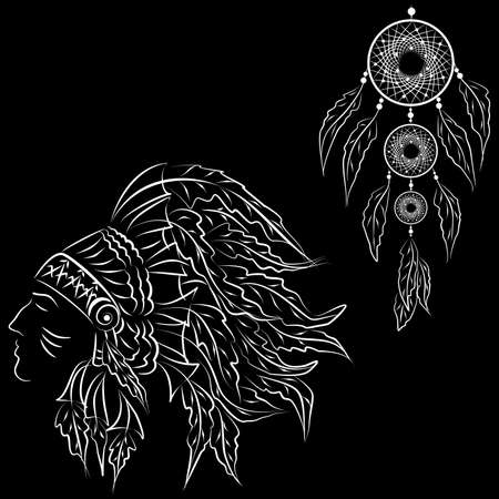 genocide: the illustration dedicated to the American Indians.