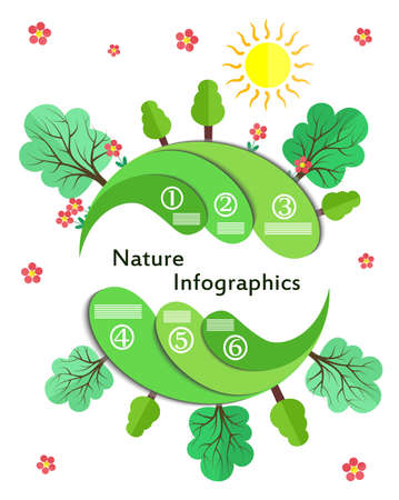greenhouse effect: illustration in style of infographic and flat design on the subject of nature.