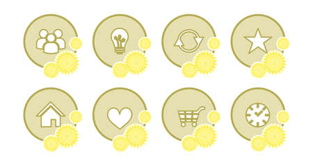 illustration on the theme of information technology - set pf icons.