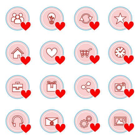pf: illustration on the theme of information technology - set pf icons.