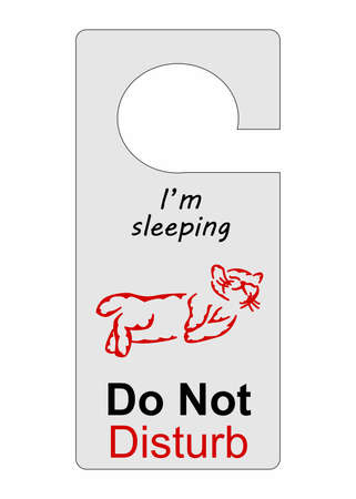 the illustration that means : do not disturb. Stok Fotoğraf - 65296641