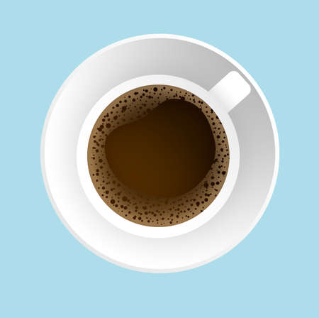 Beautiful illustration with hot and sweet coffee. Illustration
