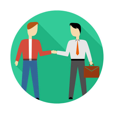 illustration in style of flat design with people and business. Illustration