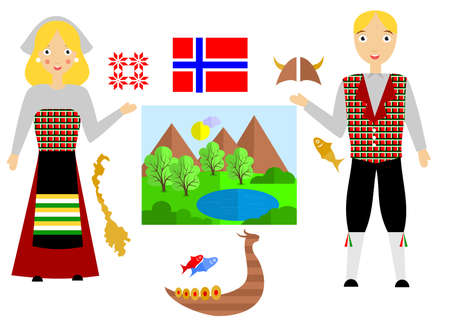 the norway set Illustration