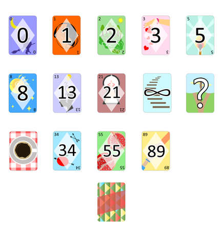 illustration of the Agile Poker Planning Estimation Cards. Иллюстрация