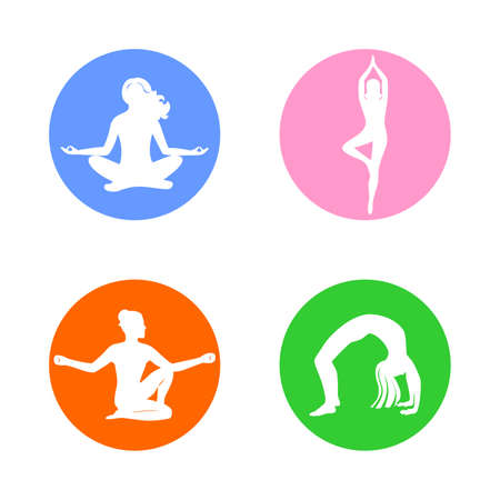 the illustration on the theme of the yoga and meditation. Illustration