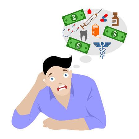 ilustración en el estilo de un diseño plano en el tema de la medicina