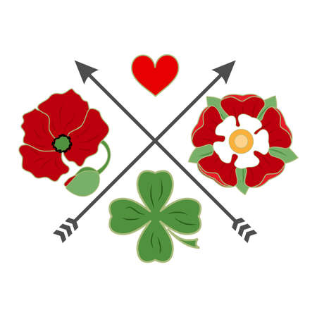 amur: The beautiful logo with a heart with flowers.