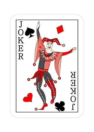 The illustration playing card for poker joker.