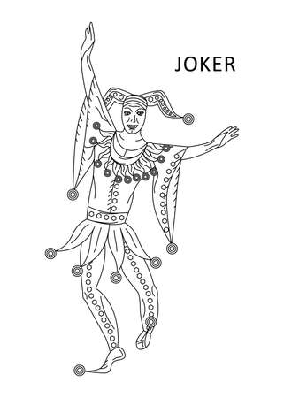 Die Illustration - mit Porträt des Mannes - Joker Standard-Bild - 80434769