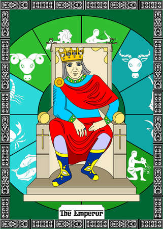 de illustratie - kaart voor tarot - de keizer.