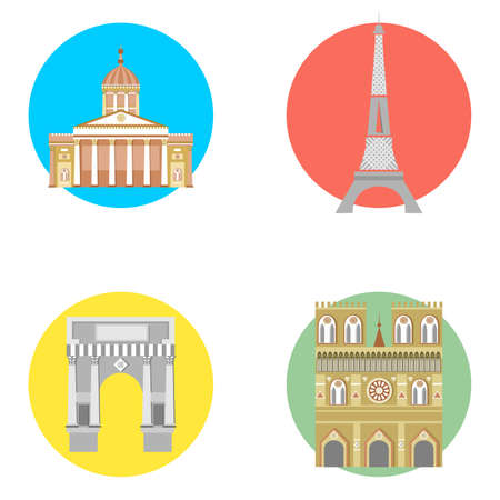 illustration in the style of a flat design on the theme of france.