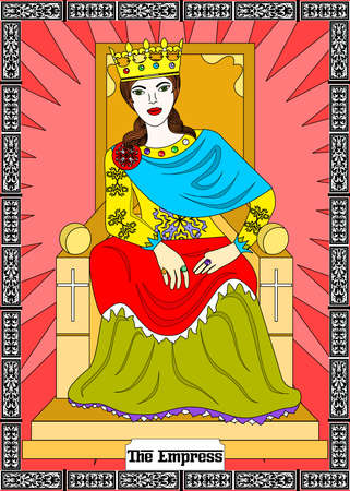 the illustration - card for tarot - the empress. Illustration