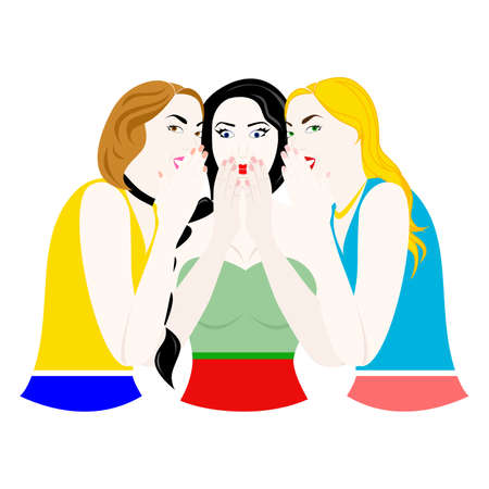 Gossiping girls.