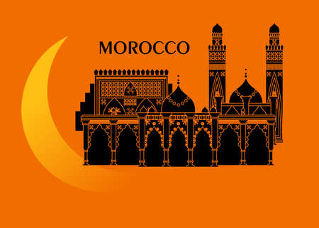 illustration in the style of a flat design on the theme of morocco.