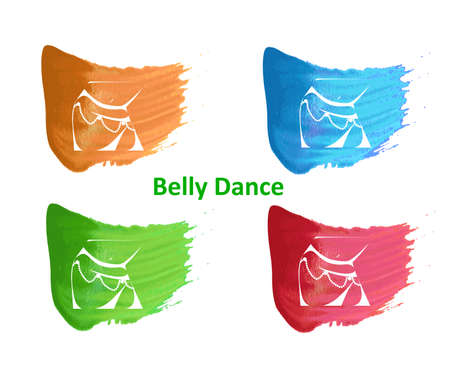 illustration in style of flat design dedicated to the belly dance.