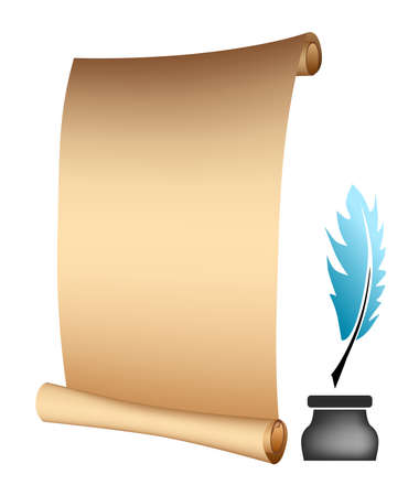 the illustration - template - on the theme of poetry.