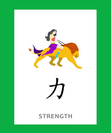 Chinese character which means strength