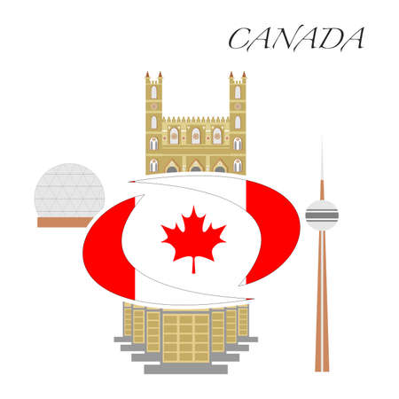 set in the style of a flat design on the theme of canada.
