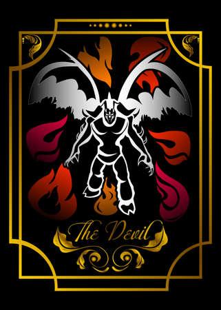 Suit of the devil, tarot card illustration. Ilustracja