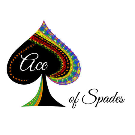 The illustration with the logo with spades.