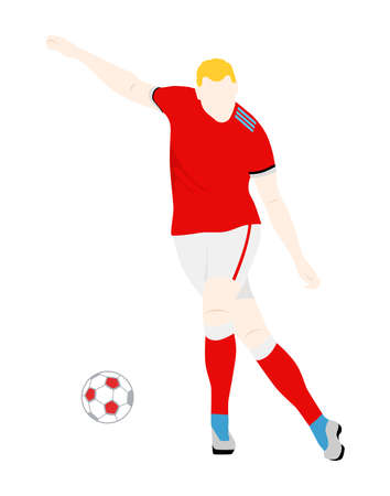 illustration of a man who plays football.