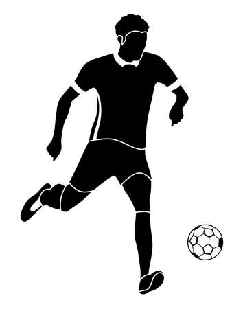 Illustration with an sportsman  of a man who plays football. Illustration