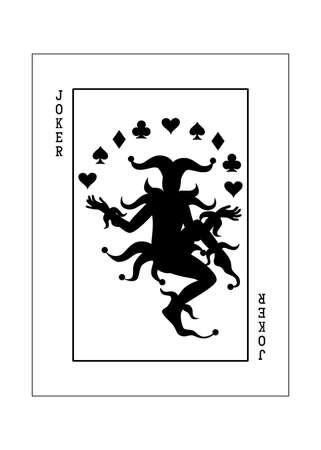 the illustration - playing card for poker - joker.