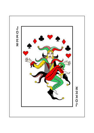 the illustration - playing card for poker - joker.