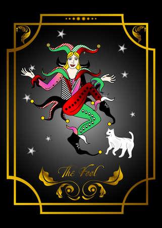 the illustration - the card from Taro deck - joker. Illustration