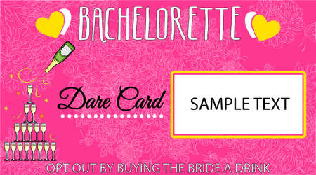 illustration - beautiful card for a fun bachelorette party. Standard-Bild - 102981298