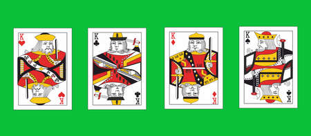 the illustration - set of kings of the playing cards.