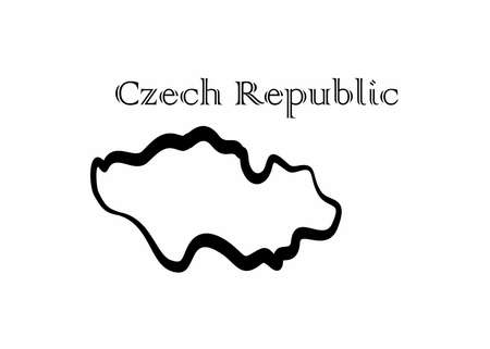 Illustration - map of the Czech Republic in abstract style.