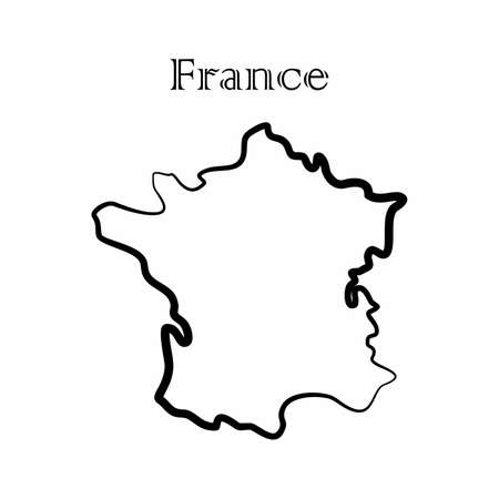 Illustration - map of the France in abstract style.