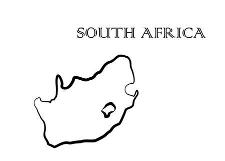 Illustration - map of the South Africa in abstract style. Illustration