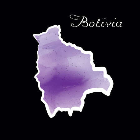 Illustration - map of the Bolivia in abstract style. Illustration