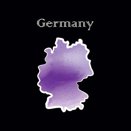 Illustration - map of the Germany in abstract style.