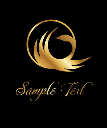 A beautiful logo with a bird in gold color.