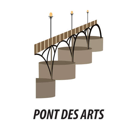 illustration in the style of a flat design on the theme of the sights of Paris.