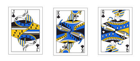 the illustration - ace of clubs in the egypt style. Stock Illustratie