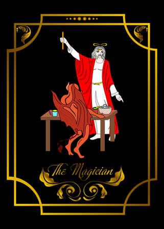 ilustracja - karta do tarota - magik.