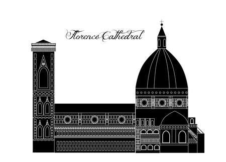 Ilustración al estilo de un diseño plano sobre el tema de los lugares de interés de Italia.